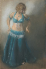 Bellydancer with arms lowered