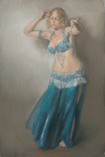 Bellydancer with arms raised